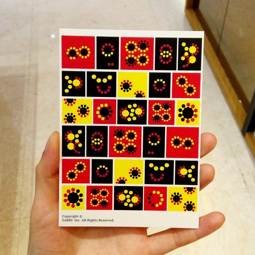 """Fireworks"" Postcard Birthday Card Design Coloring Illustration Photo Album Card Universal Card Art Art Modern Lovers Love Special Interesting Weird Features Weird Cute Taiwan Yellow Fun Funny Eye-catching Tale of Art Sequins Dazzle Cool Not Famo"