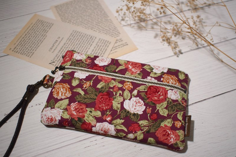 Pick up series mobile phone bag / purse / limited manual bag / vintage rose / pre-order