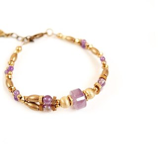 [UNA- excellent Na] Luoman Fei handmade brass bracelets customized natural stones