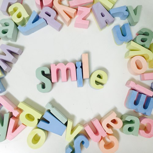♫ fragrance happy ♫ smiling Smile ♫ - color letters enamel stone -