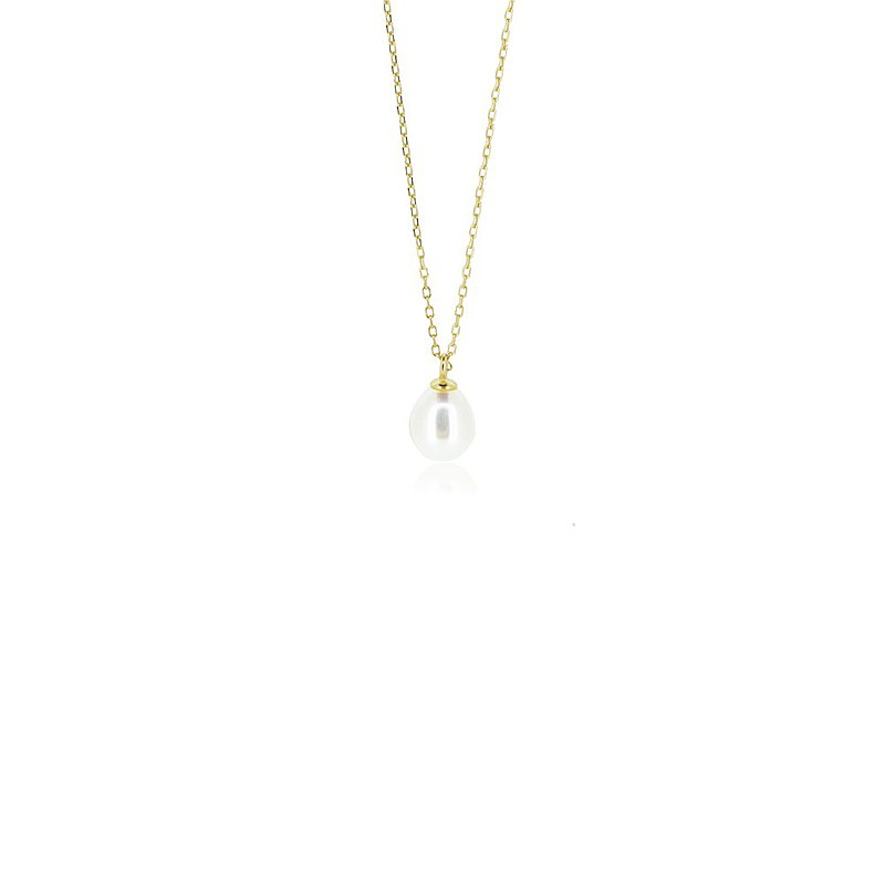 DROPLET PEARL NECKLACE ( SILVER/ 18K GOLD/ ROSEGOLD ) | PEARL COLLECTION