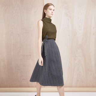 <Limited time offer until July 13> Gray stripe lower body skirt - Hong Kong original brand Lapeewee