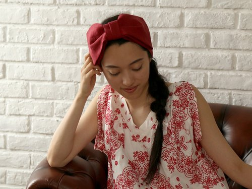 Linen Ribbon Headband