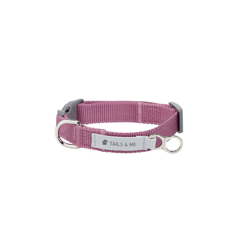[Tail and me] classic nylon belt collar purple