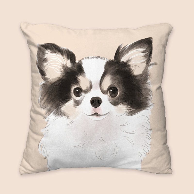 [I will love you forever] Classic long hair black dog animal pillow / pillow / cushion