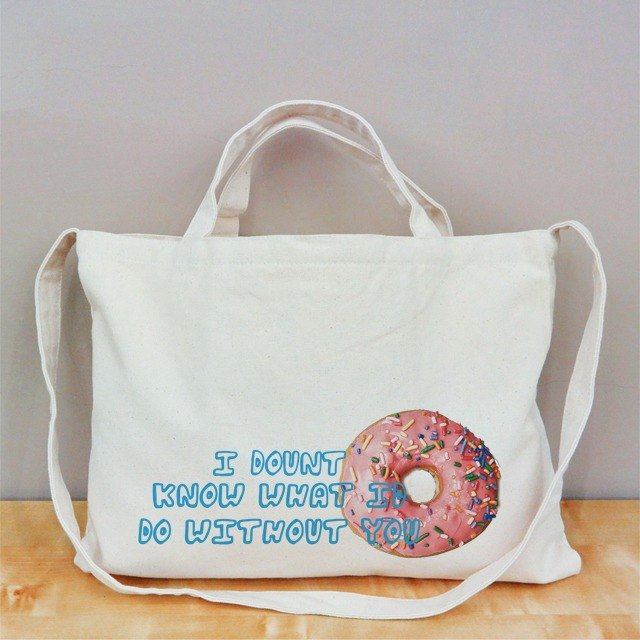 [Valentine] I Donut know horizontal canvas bag