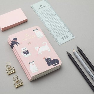 Cats Pink Pocket Notebook