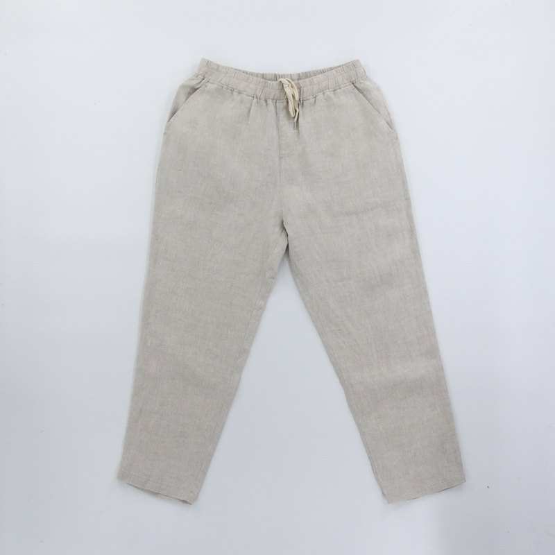 Washed linen pants