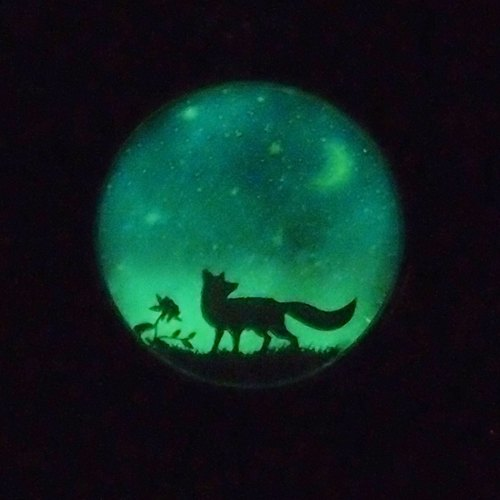 Fox Garden hand 25mm star fox night light necklace / not alone ... stars, there is always one belongs to me