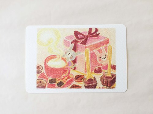 Sweet snack time postcard no.056