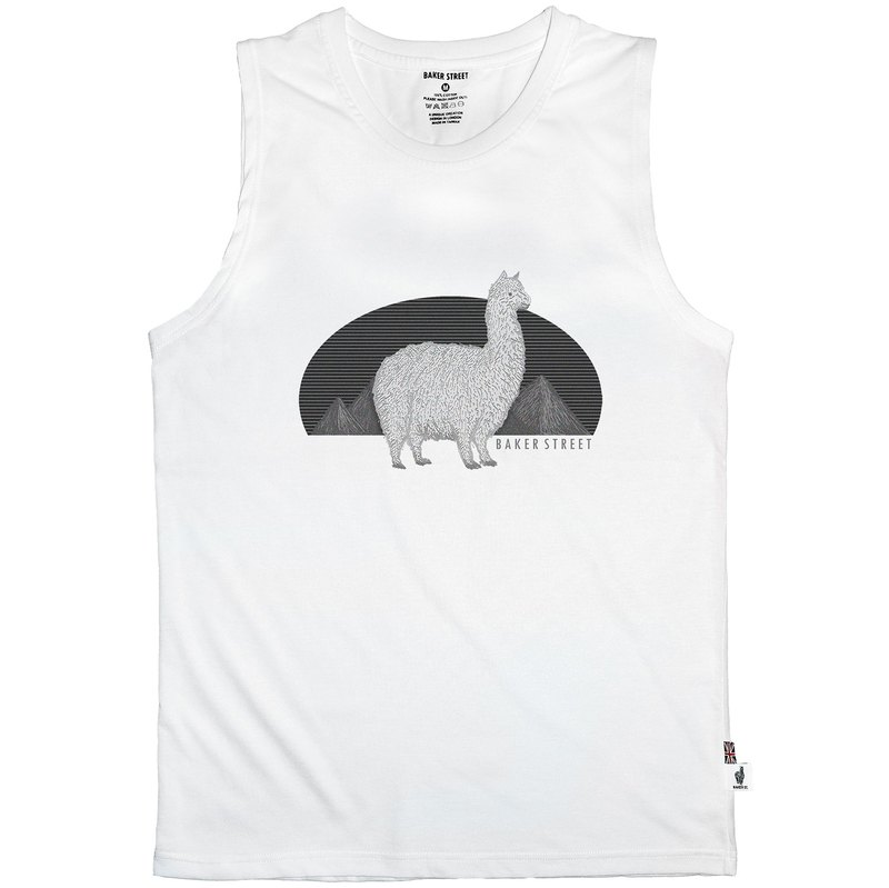 British Fashion Brand -Baker Street- Alpaca's Journey Printed Tank Top