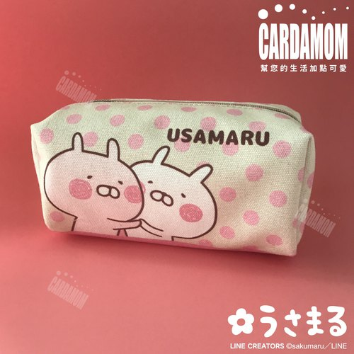 【USAMARU Rabbit Pills】 lovely polka dot canvas storage bag · Genuine Authorized Card International