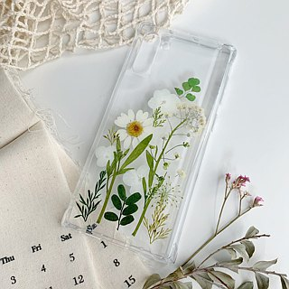 Lakeside dry flower embossed phone case