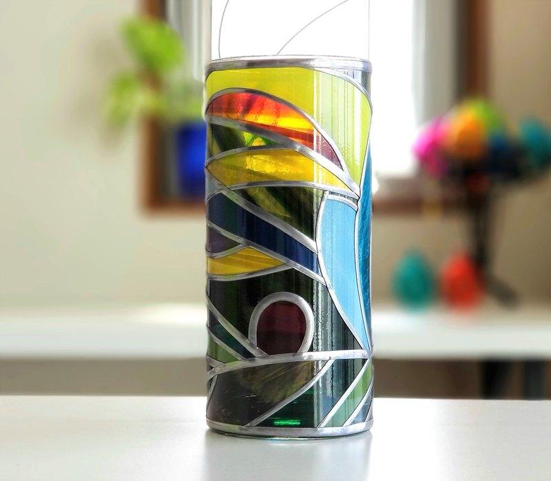 玻璃圓花瓶小叮噹森林