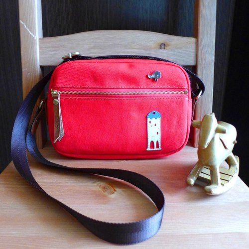 II small white house leisure bag red / List 2980