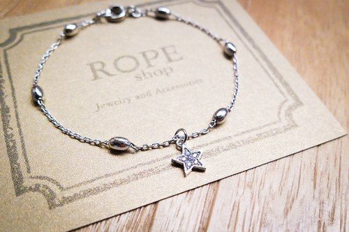 ROPEshop of birth [Star] bracelet. White gold