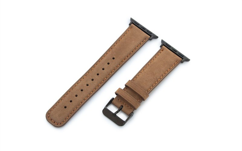 Torrii Apple Watch Handcrafted Strap 42/44mm- Desert Brown with Orange Stitching