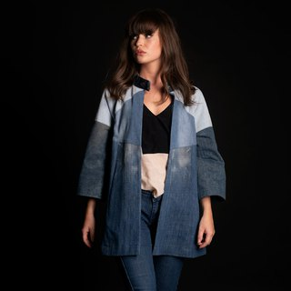 Upcycling denim blazer