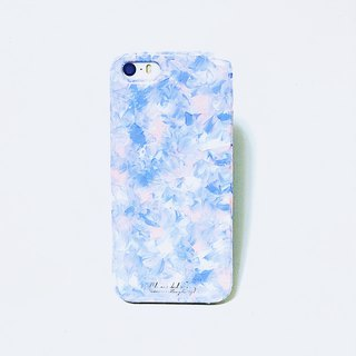 Ice Cream Series ll 2016Pantone tranquil blue color hand-painted oil quartz powder ll wind Phone Case