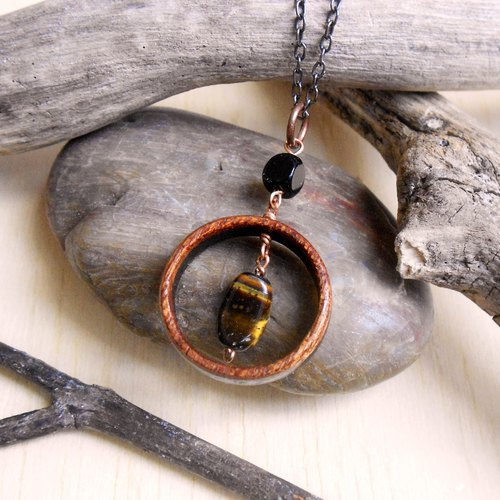 Black Agate and Tiger Eye Stone