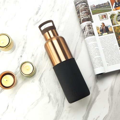 BRONZE GOLD- Midnight Black | HYDY vacuum insulated thermal water bottle