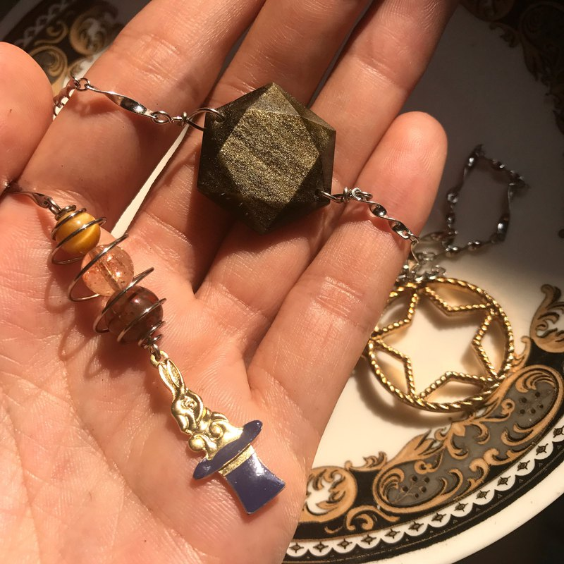 【Lost And Find】Natural magician bunny pendulum necklace