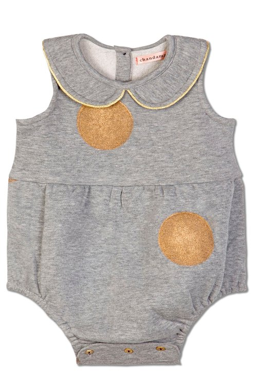 Kaira Girl' Grey Romper