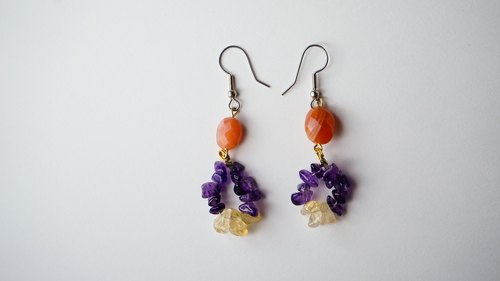 [Quiet] Handmade X natural stone earrings
