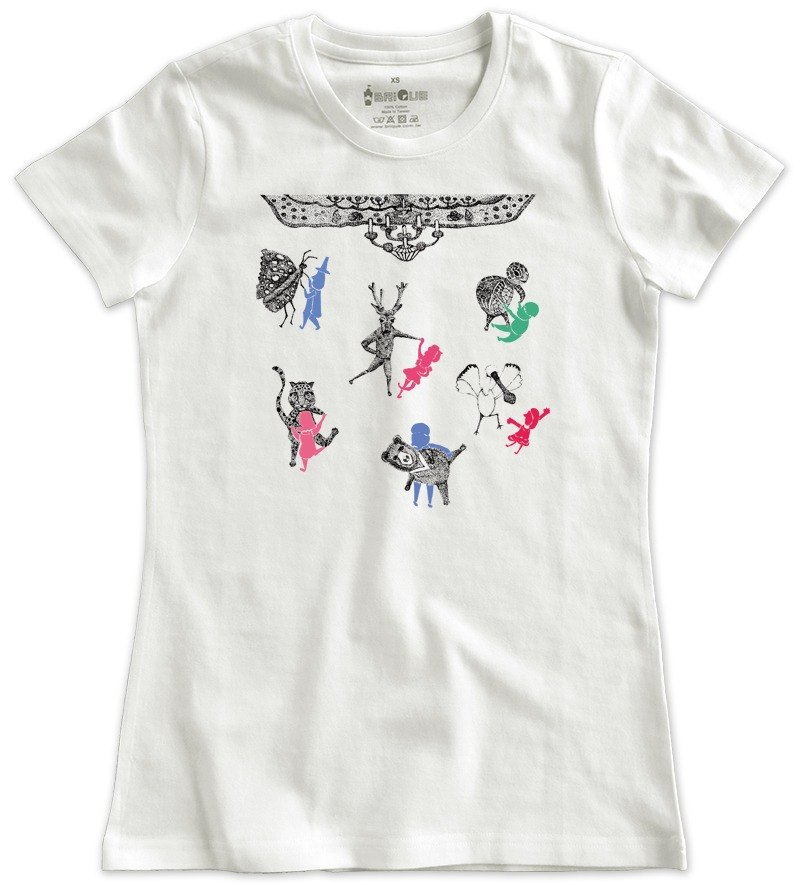 Classic white short-sleeved T-shirt_Shall we dance_ (Female M out of stock)