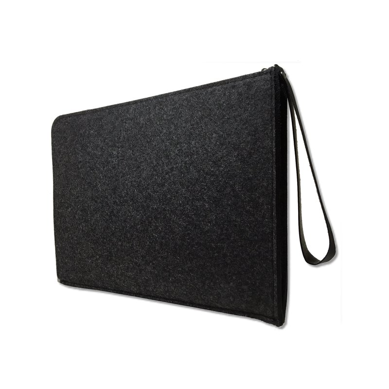 MacBook / ipad pro / Apple computer bag / dark gray / wool felt / clutch / tablet computer bag / computer bag / Laptop Sleeve
