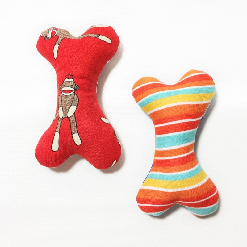 Dog Toys - Obi Series / Bone Head (Striped Monkey)
