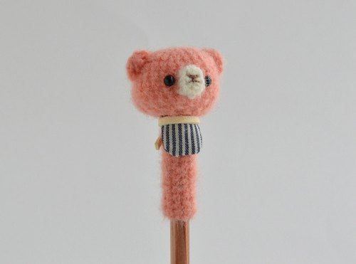 【Order Production】 Pencil Hat | Pink Bear