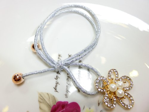 Purl double strand of hair----Small diamond flower