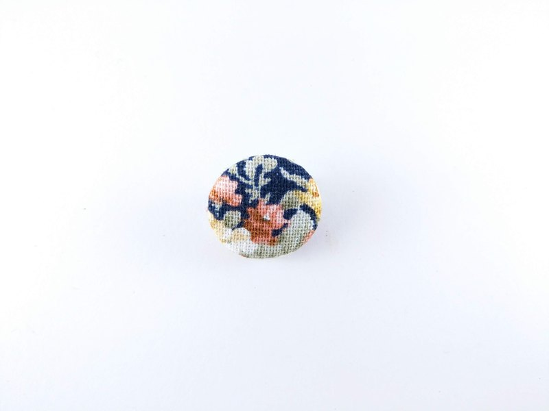 Blue rose garden rose.cloth button. Fabric Badge . Cloth Button Pack