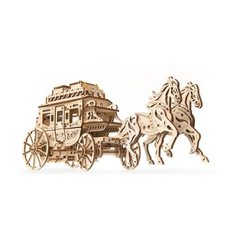 /Ugears/ Ukrainian wooden model Cinderella carriage Stagecoach