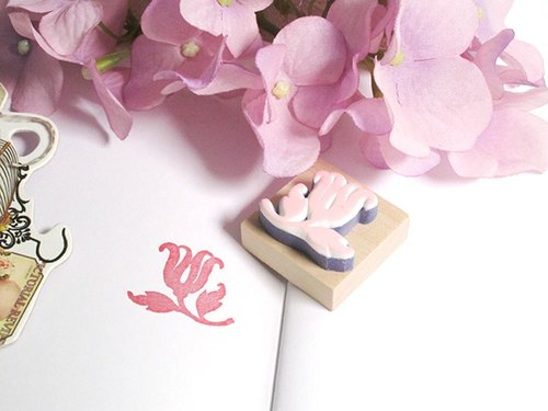 Apu hand-painted rubber stamp European style floral stamp account stamp