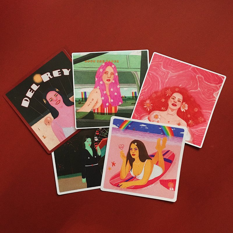 Lana Paradise Art Print Collection of 5