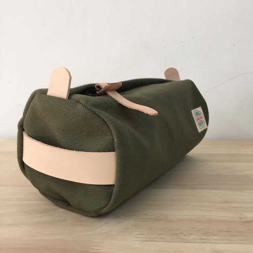 New Green camo Canvas Zippered Pouch Bag / Men travel case / Cosmetics bag / Toiletry Bag