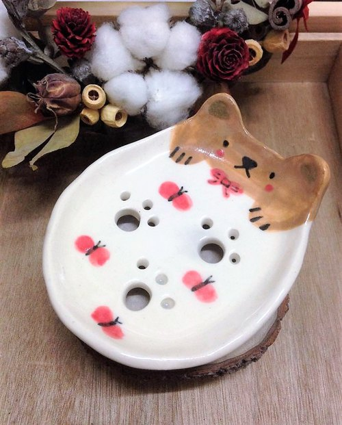 Butterfly fly - bear footprints soap tray