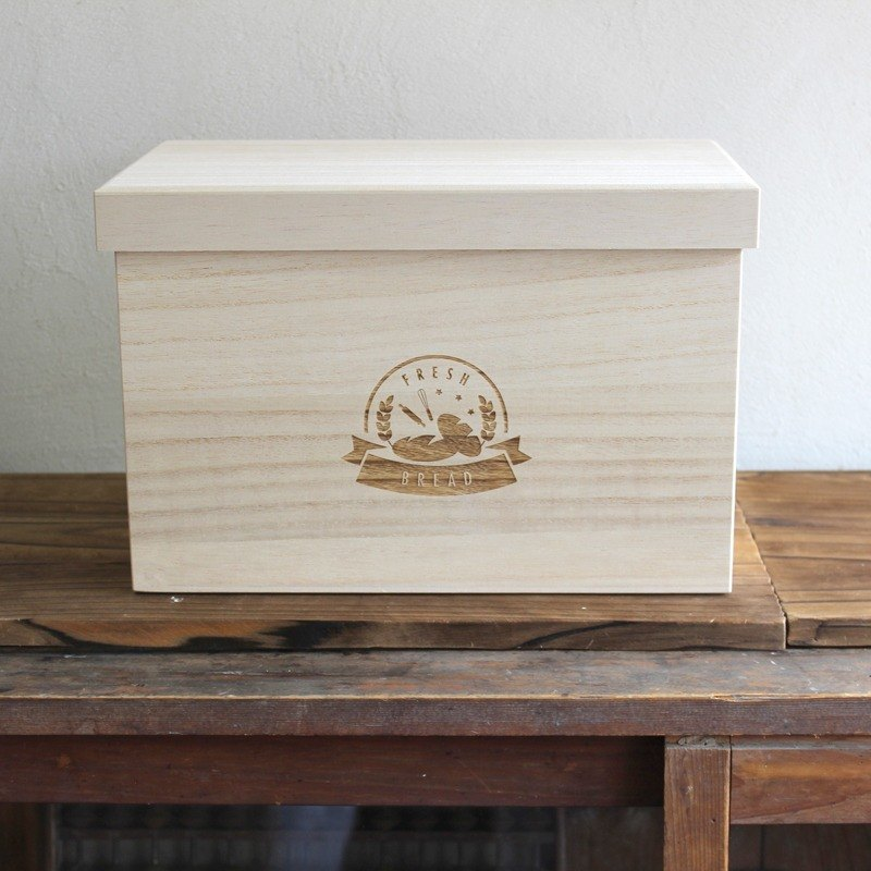 Bread box FRESH BREAD 2 loaf Fashionable Storage box made in Japan wooden kiri