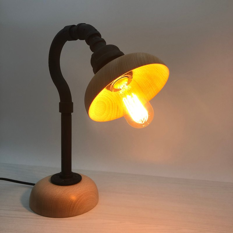 LOFT Industrial Wind Original Wood Table Lamp - Birthday Valentine's Day Gift