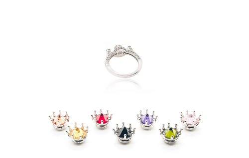 THE QUEEN DESIGN INTERCHANGEABLE RING