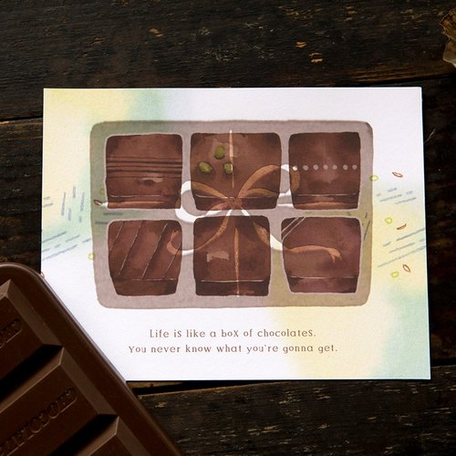 Life chocolates Temperature Sense Post Card - by Hank