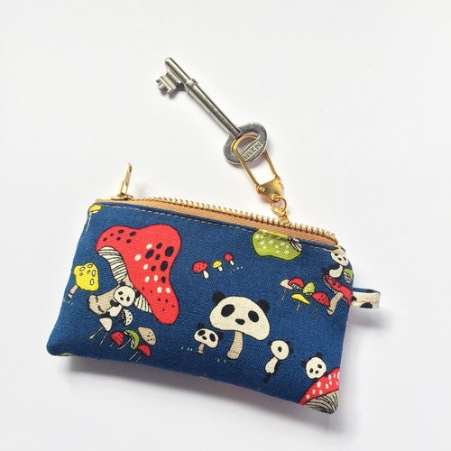 Cute Panda Mushroom Key Purse Coin Pouch