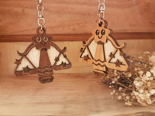 "Taiwan stack ""my zodiac! My life! ""[Customization] Wood carving constellation - Libra gift / key ring"
