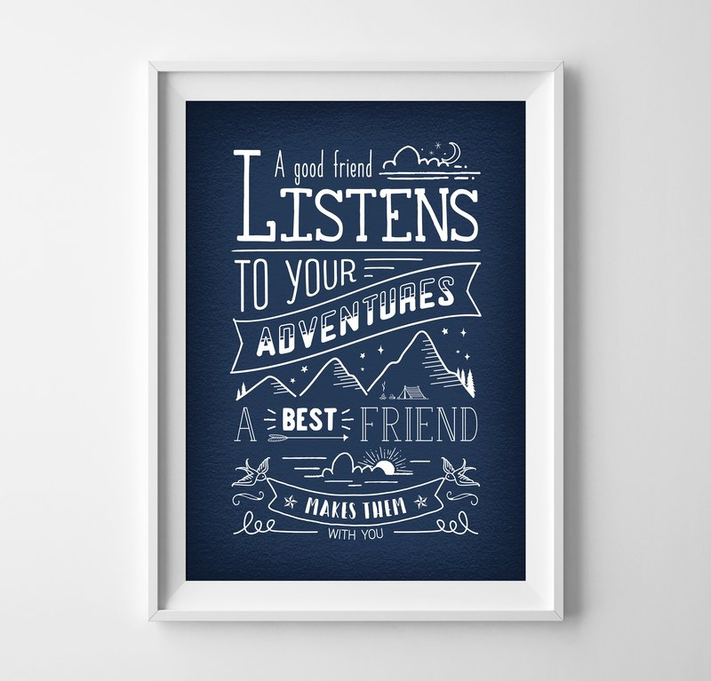 Best friend Customizable Hanging Poster