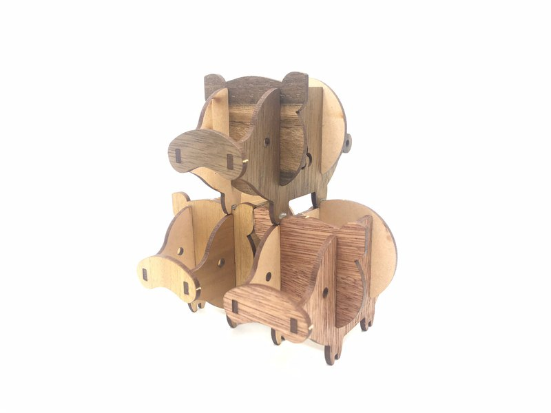 (Volume Mori Museum) Model Puzzle Combination Model Diy Toy Series Pig Teammate (DIY)