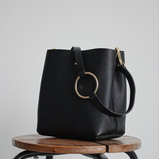 Saffiano Black Leather  Bag