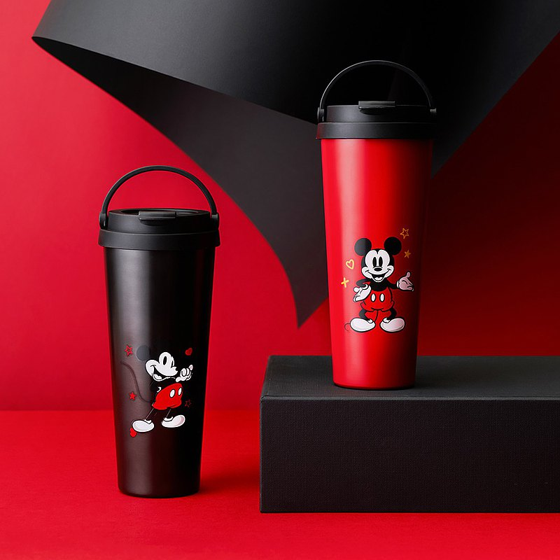 AURA-Disney Mickey limited lightweight ceramic easy-to-clean layer handle cup 700ML 2 colors available