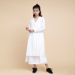 kitann ino dyed stripe loose cardigan air-conditioned shirt French literary thin coat